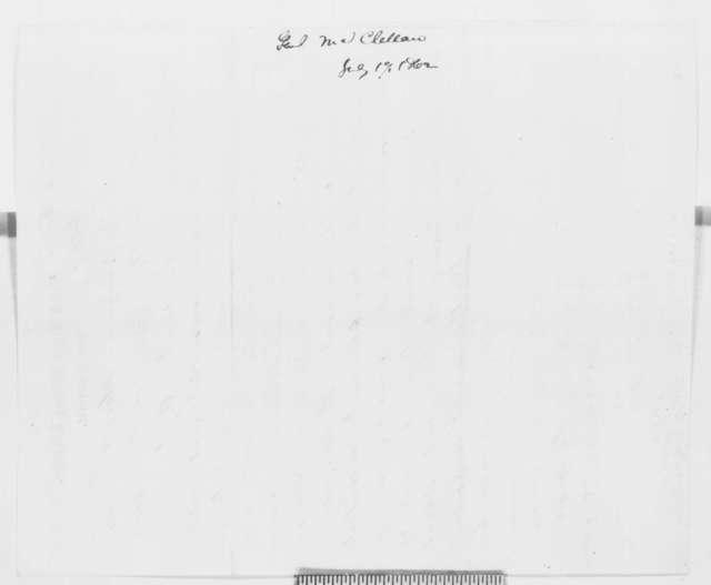 George B. McClellan to Abraham Lincoln, Thursday, July 17, 1862  (Telegram regarding military affairs)