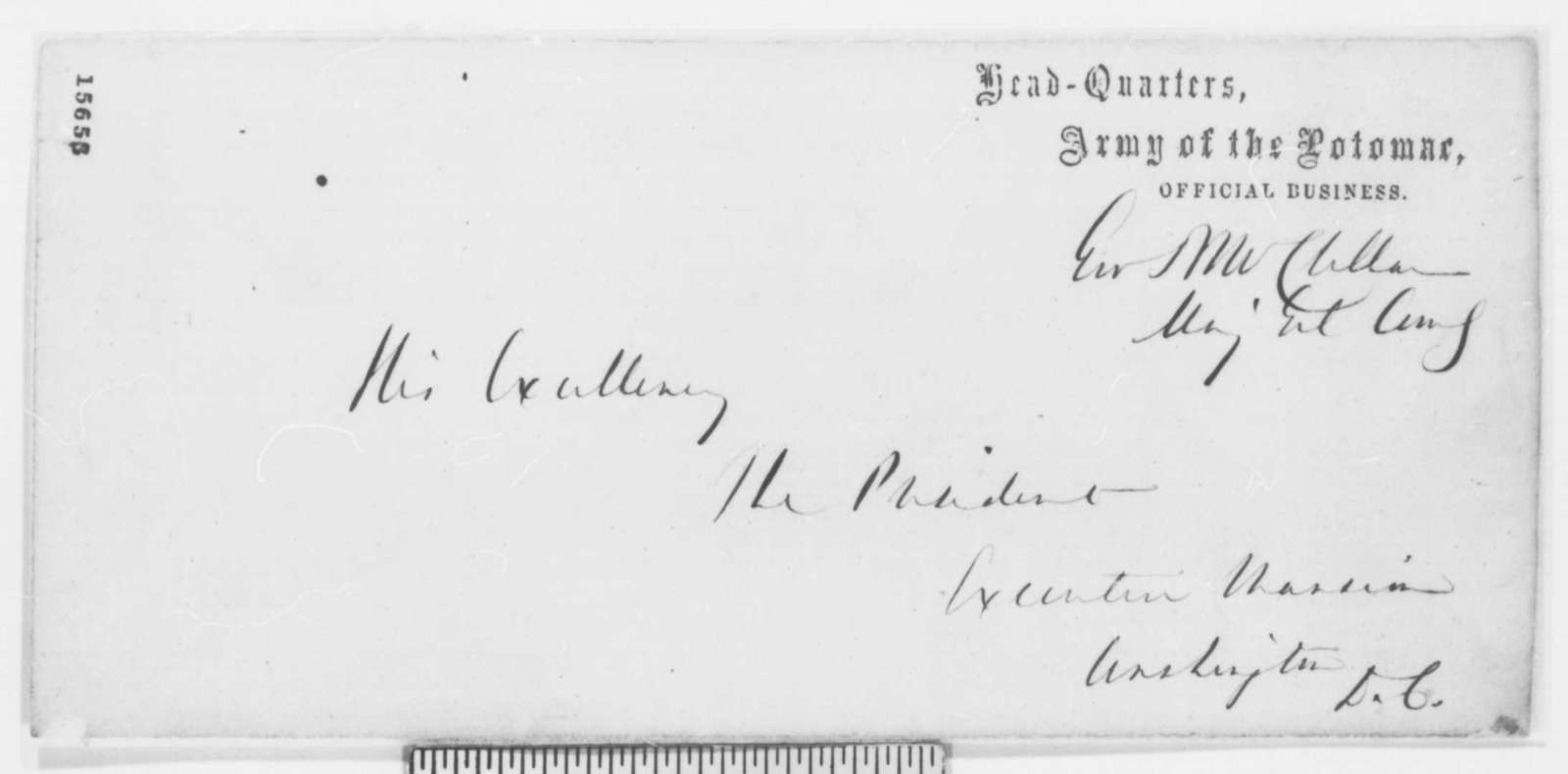 George B. McClellan to Abraham Lincoln, Wednesday, April 23, 1862  (Military affairs)