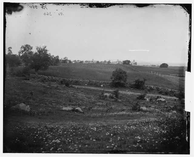 Gettysburg, Pennsylvania. View from Culp's hill