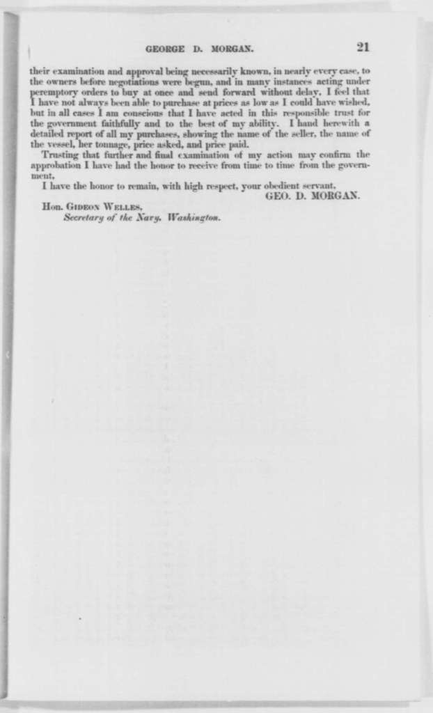 Gideon Welles to Senate, Tuesday, January 14, 1862  (Pamphlet)