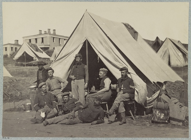 Group, 22d New York State Militia near Harpers Ferry, Va., 1861 [i.e.1862]. Co. D