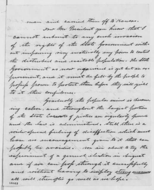 Hamilton R. Gamble to Abraham Lincoln, Monday, May 19, 1862  (Relations between Kansas and Missouri)