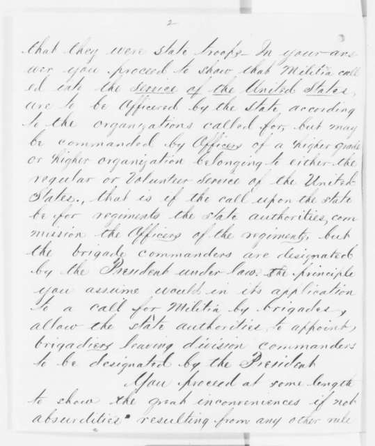 Hamilton R. Gamble to Henry W. Halleck, October 1862  (Military affairs in Missouri)