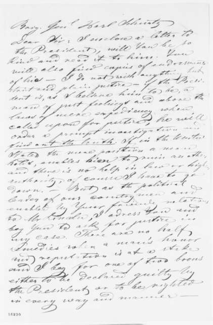 Henry C. De Ahna to Carl Schurz, Friday, May 30, 1862  (Cover letter)