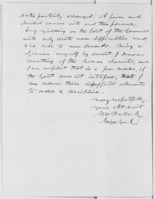 Henry W. Halleck to Abraham Lincoln, Tuesday, January 21, 1862  (Military affairs)