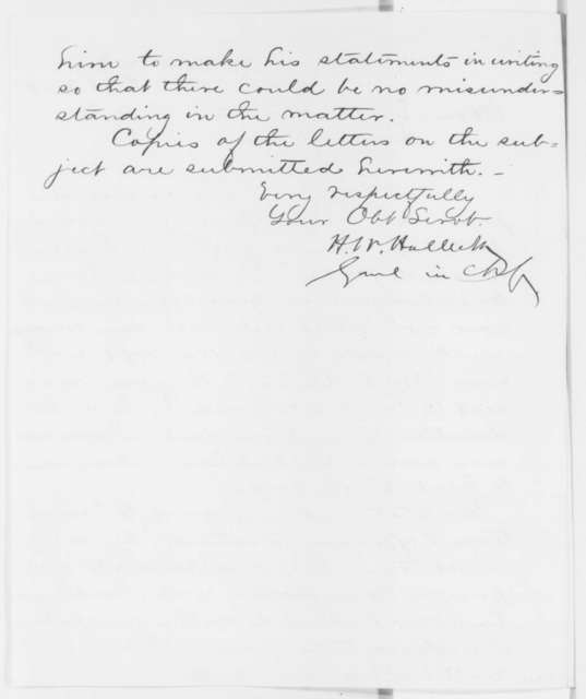 Henry W. Halleck to Edwin M. Stanton, Friday, October 03, 1862  (General Sigel)