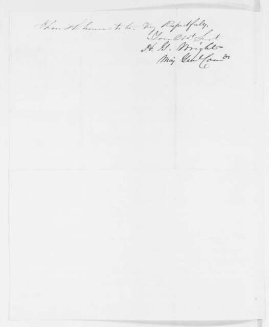 Horatio G. Wright to Abraham Lincoln, Wednesday, October 08, 1862  (Affairs in Kentucky)