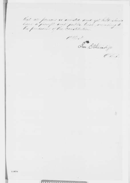 House of Representatives, Monday, December 01, 1862  (Resolution concerning military arrests)