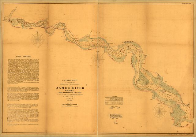 Hydrographic reconnaissance of James River, Virginia, from entrance to City Point /