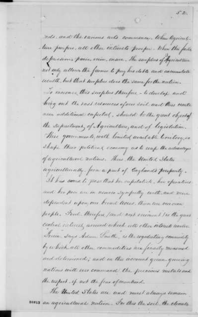 Isaac Newton to Abraham Lincoln,  1862  (Annual Report of the Department of Agriculture)