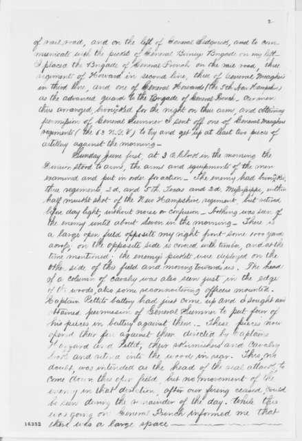 Israel B. Richardson to Joseph H. Taylor, Friday, June 06, 1862  (Engagement at Fair Oaks)