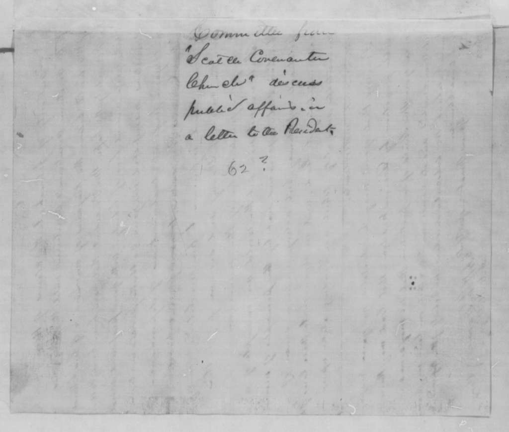 J. K. W. Levane and A. M. Milligan to Abraham Lincoln, [September-December] 1862  (Resolutions supporting Preliminary  Emancipation Proclamation)