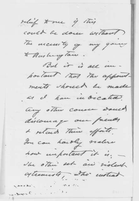 James Dixon to Frederick W. Seward, Thursday, July 17, 1862  (Patronage appointments)