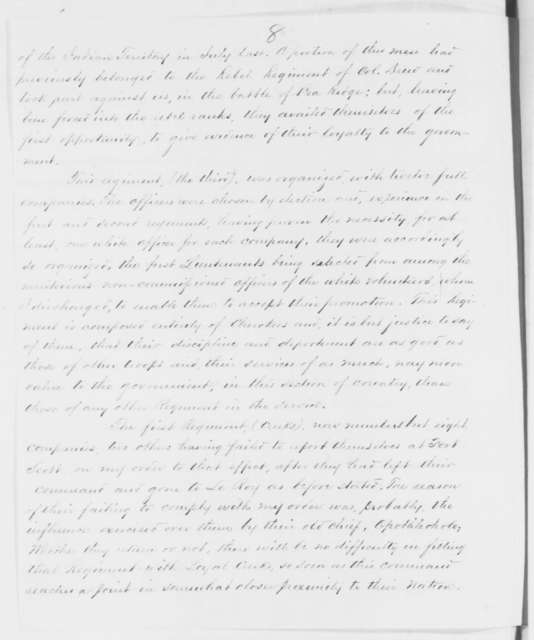 James G. Blunt to Caleb Smith, Friday, November 21, 1862  (Refugee Indians in Kansas)