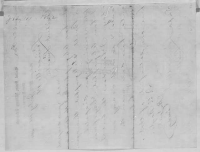 Jeremiah T. Boyle to Abraham Lincoln, Monday, July 14, 1862  (Telegram regarding military affairs)