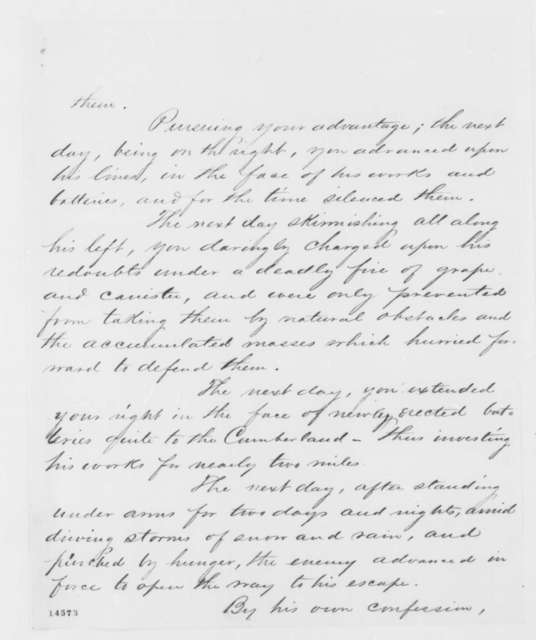 John A. McClernand to 1st Division, Monday, February 17, 1862  (Order of commendation)