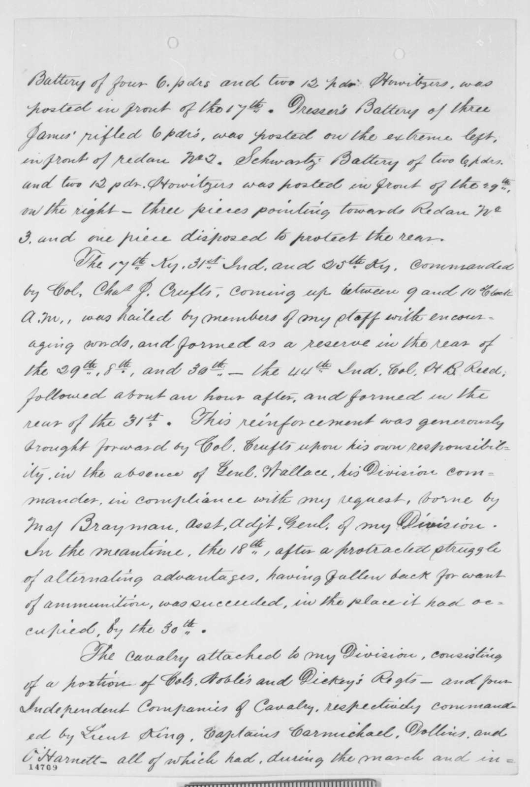 John A. McClernand to Ulysses S. Grant, Friday, February 28, 1862  (Report on Fort Donelson)
