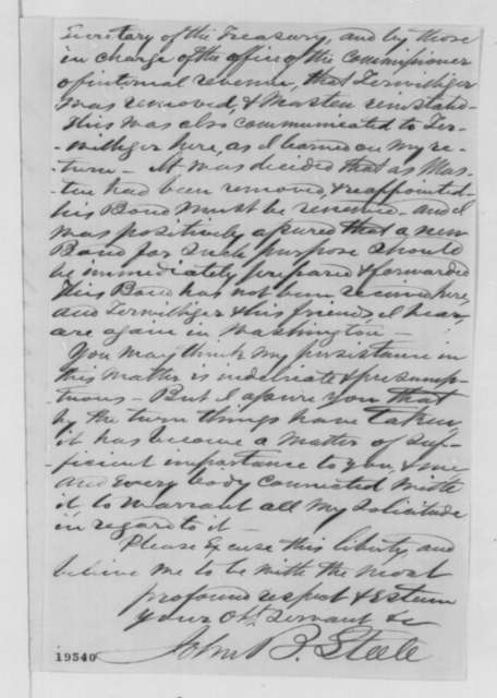 John B. Steele to Abraham Lincoln, Friday, November 14, 1862  (Appointment)