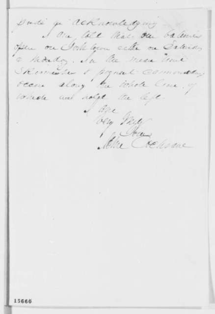 John Cochrane to Abraham Lincoln, Thursday, April 24, 1862  (Commission as general)