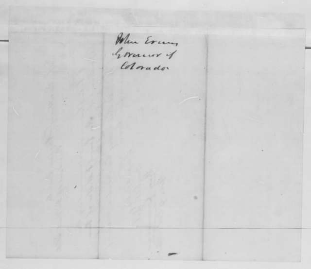 John Evans to Abraham Lincoln,  1862  (Recommends appointment of Samuel Miller)