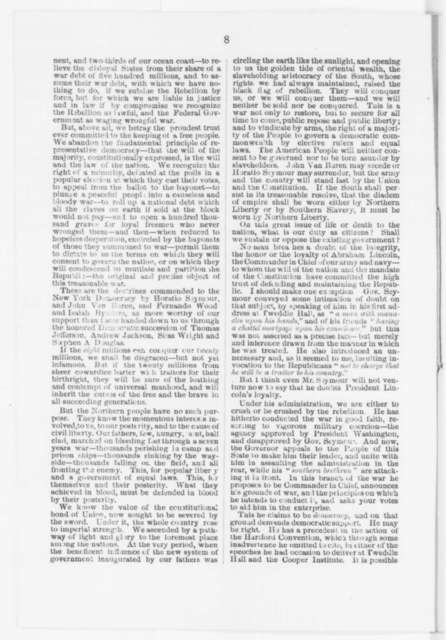 John K. Porter, Tuesday, October 21, 1862  (Pamphlet)