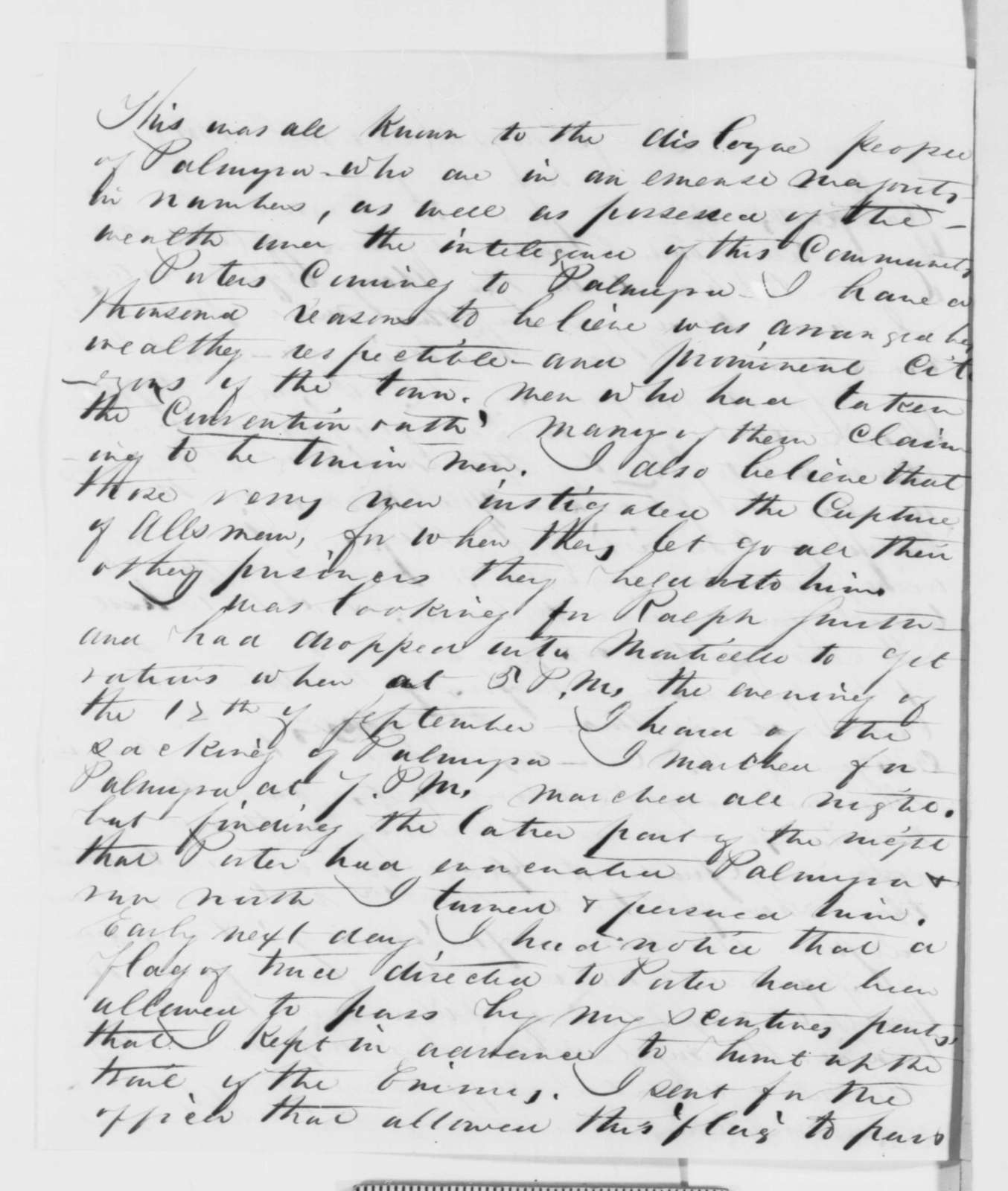 John McNeil to Samuel R. Curtis, Friday, December 12, 1862  (Affairs in Missouri)