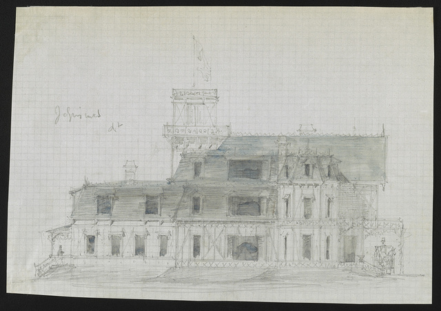 [John N. A. Griswold house (now Newport Art Museum), Newport, Rhode Island. Elevation. Sketch]