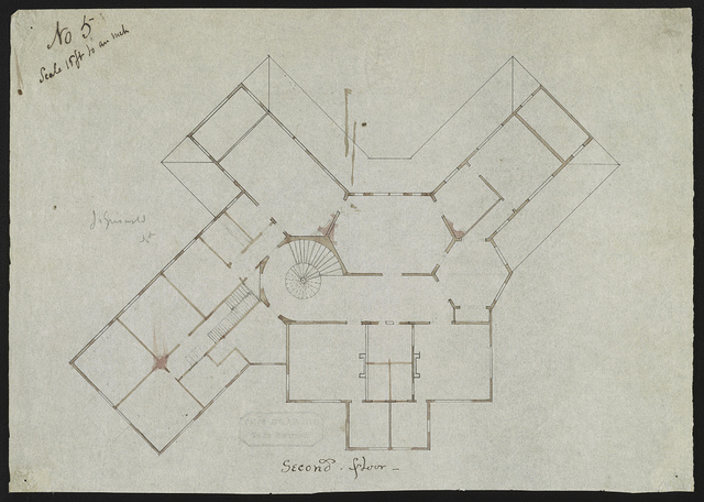 [John N. A. Griswold house (now Newport Art Museum), Newport, Rhode Island. Second floor. Plan]