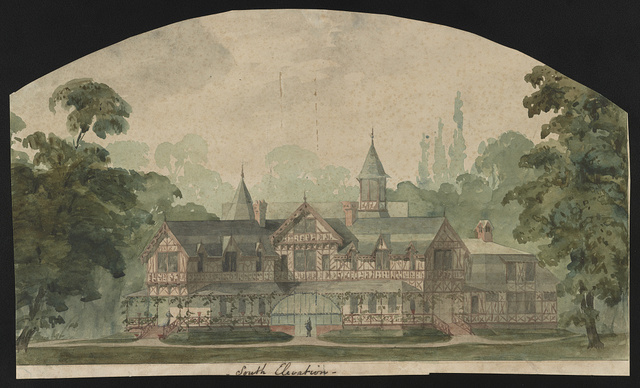 [John N. A. Griswold house (now Newport Art Museum), Newport, Rhode Island. South elevation. Rendering.]