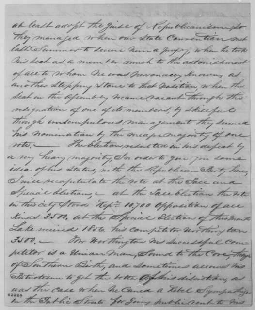 John P. Zane to John G. Nicolay, Thursday, February 27, 1862  (Affairs at San Francisco Customs House)