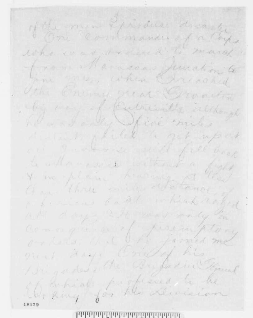 John Pope to Henry W. Halleck, Monday, September 01, 1862  (Telegram concerning military affairs)