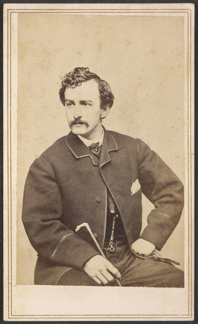 [John Wilkes Booth seated, with cane in hand] / Silsbee, Case & Co., photographic artists, 299-1/2 Washington Street, Boston. Case & Getchell, from Dec. 3, 1862.