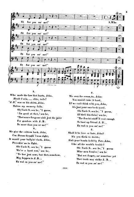 Jonathan to John words by Hosea Bigelow; music composed by F. Boott.