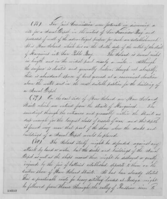 Joseph G. Totten to Edwin M. Stanton, Wednesday, November 12, 1862  (Defense of Pacific Coast)