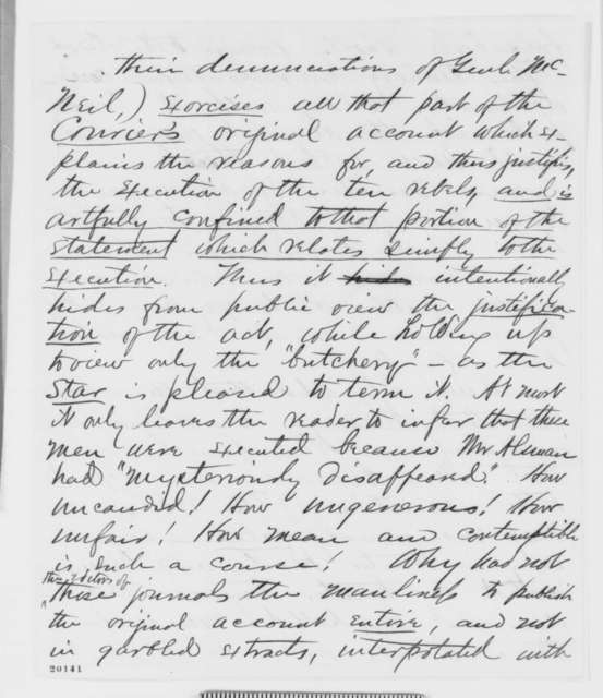 Joseph R. Winchell to John Henderson, Friday, December 12, 1862  (Military executions in Missouri)