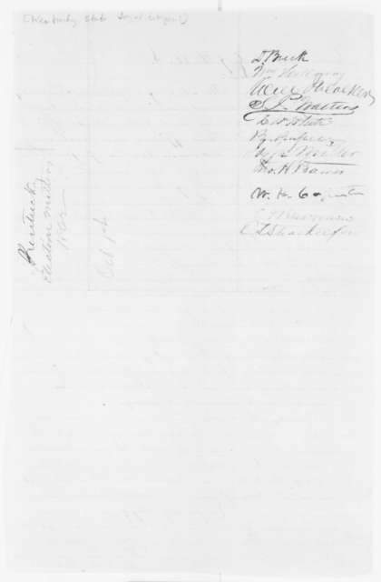 Kentucky Citizens to Abraham Lincoln, Wednesday, October 01, 1862  (Petition concerning the protection of loyal citizens from secessionists)