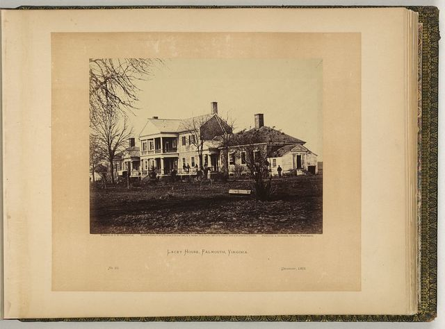 Lacey House, Falmouth, Virginia / negative by T.H. O'Sullivan ; positive by A. Gardner.