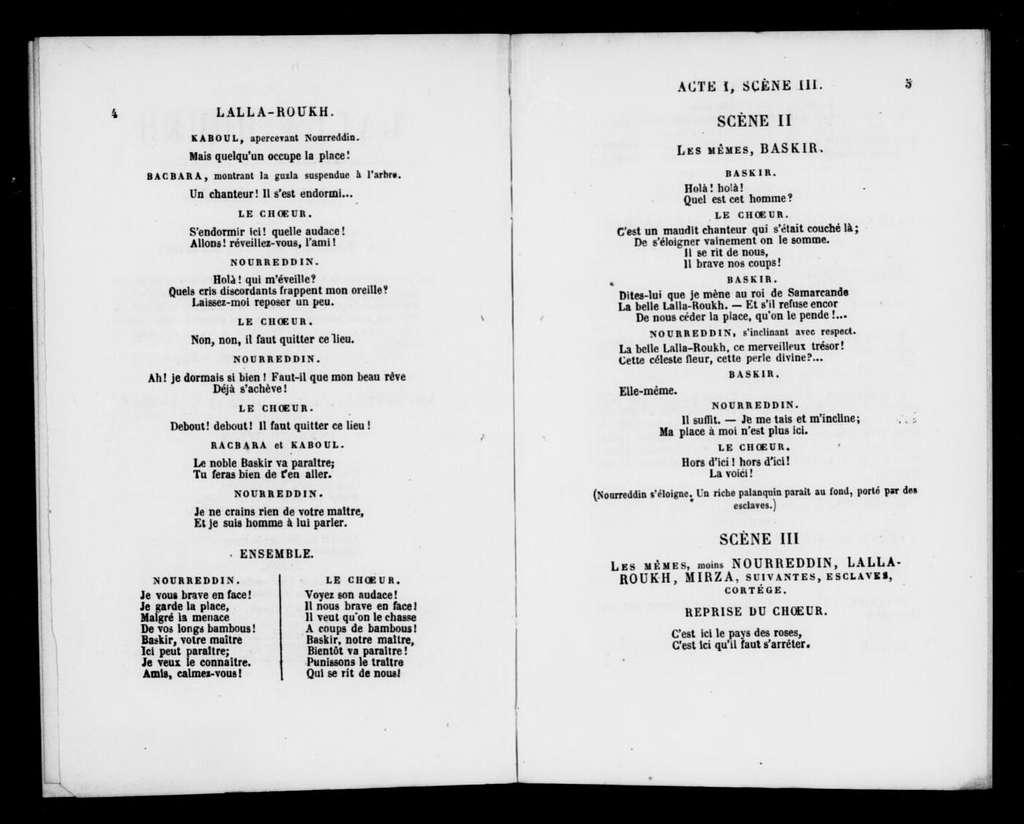 Lalla-Roukh. Libretto. French