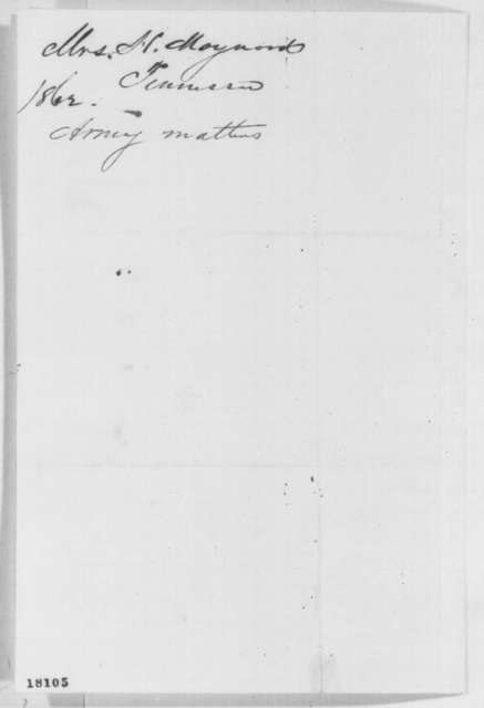 Laura Ann Maynard to Abraham Lincoln, Friday, August 29, 1862  (Situation in East Tennessee)