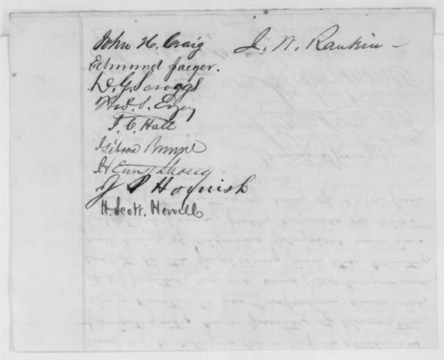 Lee County Iowa Members of the Bar to Abraham Lincoln,  1862  (Petition recommending appointment of Samuel Miller)