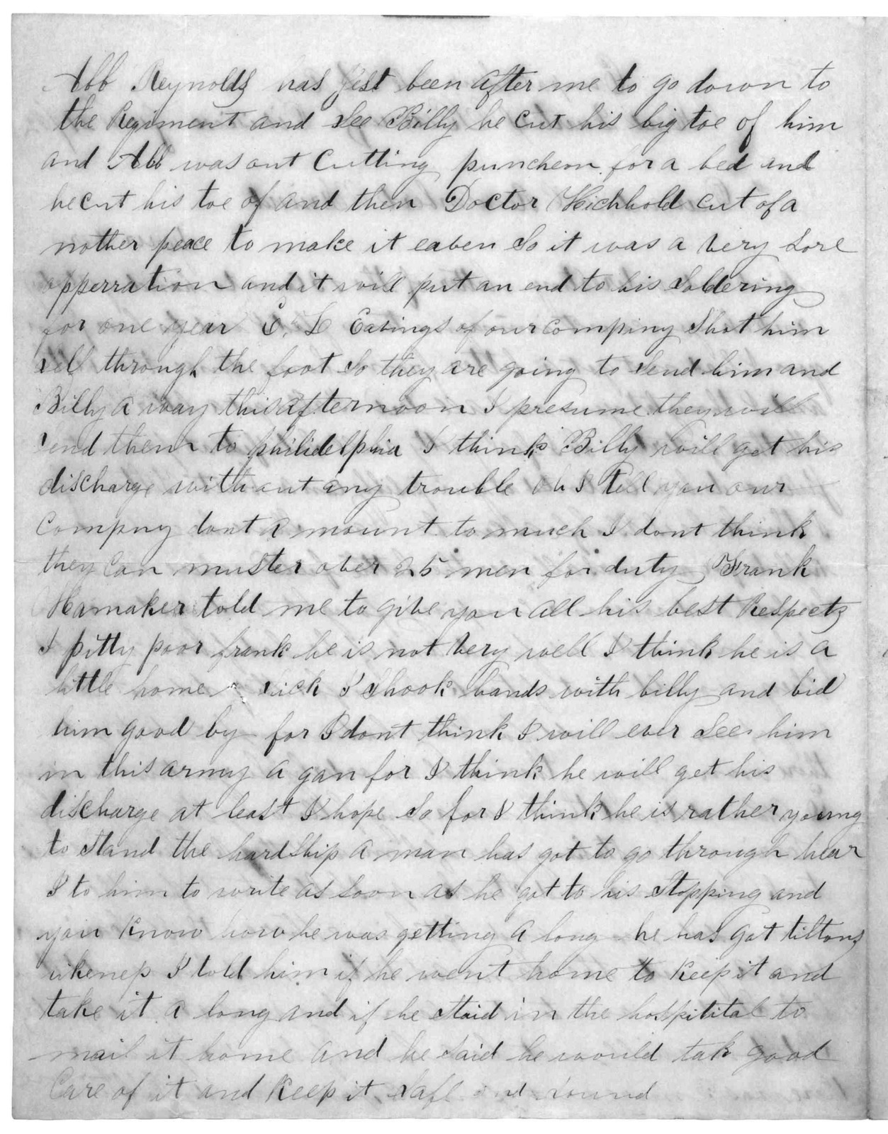 Letter from Joseph F. Green to Juliana Smith Reynolds, June 21, 1862