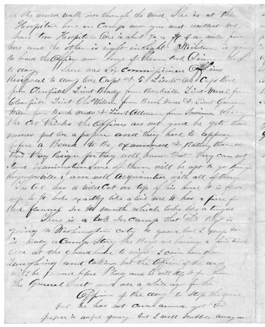 Letter from Tilton C. Reynolds to Juliana Smith Reynolds, January 28, 1862
