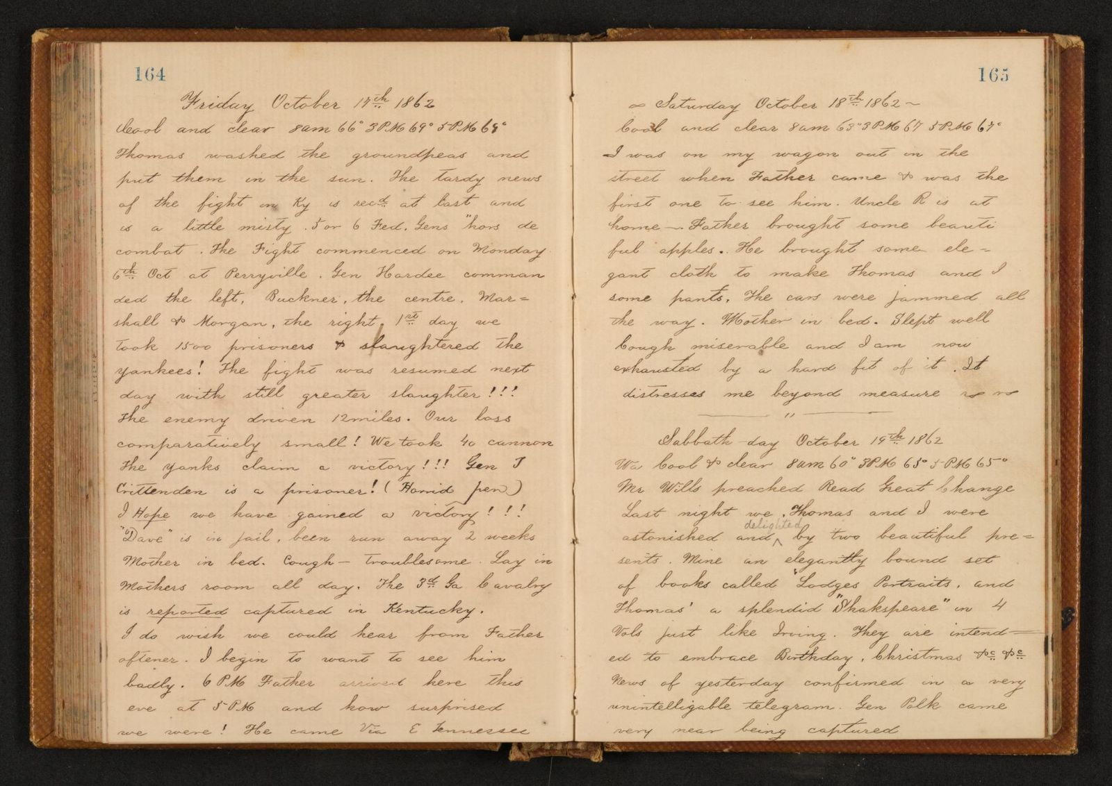 Lewis H. Machen Family Papers: Diaries and Diary Transcriptions, 1860-1865; Diaries; Gresham, LeRoy Wiley; 1862, 1 Jan.-1863, 12 Feb.