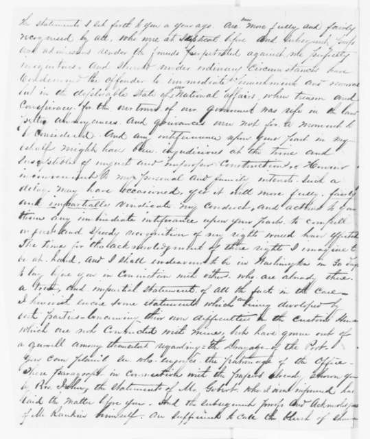 Lockwood M. Todd to Abraham Lincoln, Sunday, June 22, 1862  (San Francisco customs house)