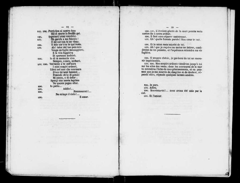 Lucia di Lammermoor. Libretto. French & Italian