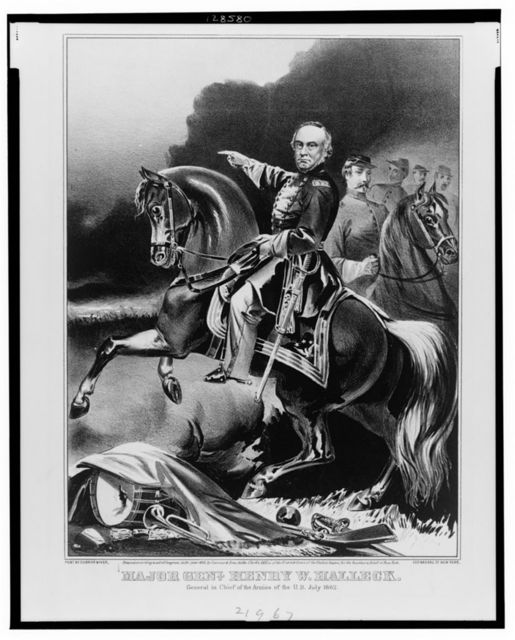 Major Genl. Henry W. Halleck General in chief of the armies of the U.S. July 1862.
