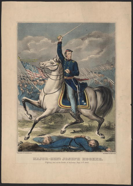Major-Genl. Joseph Hooker. (Fighting Joe) at the Battle of Antietam Sept. 17th, 1862.