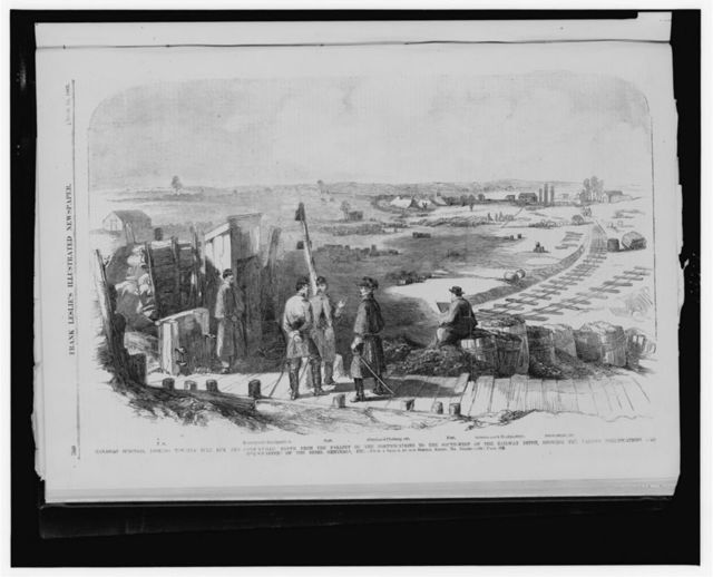 Manassas Junction, looking towards Bull Run and Centreville, [...] / from a sketch by our special artist, Mr. Forbes.