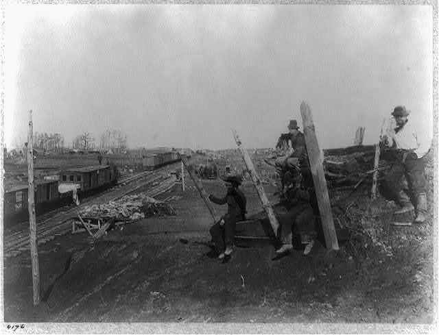 Manassas Junction, Va., after its evacuation by the Confederates