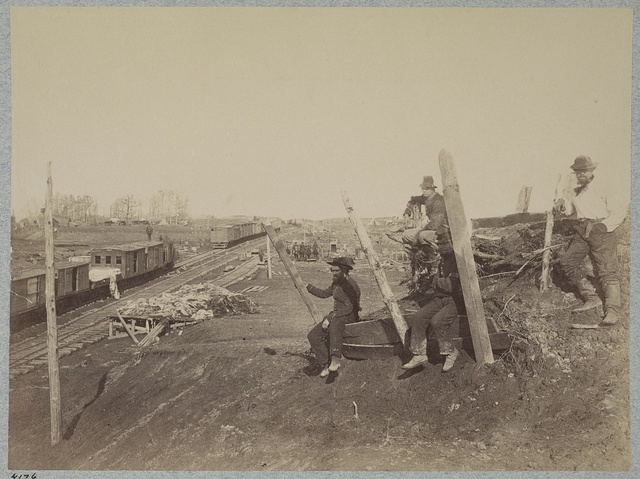 Manassas Junction, Va. after its evacuation by the Confederates, March 1862